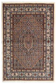 Moud Tapis 98X147 D'orient Fait Main Marron Foncé/Rouge Foncé (Laine/Soie, Perse/Iran)