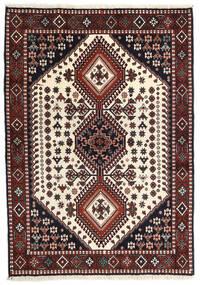 Yalameh Tapis 108X150 D'orient Fait Main Rouge Foncé/Beige (Laine, Perse/Iran)