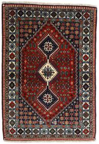 Yalameh Tapis 109X155 D'orient Fait Main Rouge Foncé/Gris Foncé (Laine, Perse/Iran)