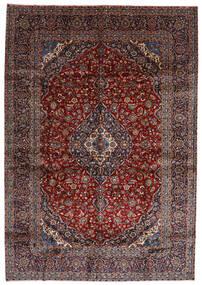 Kashan Tapis 288X416 D'orient Fait Main Rouge Foncé Grand (Laine, Perse/Iran)