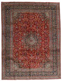 Mashad Tapis 297X383 D'orient Fait Main Rouge Foncé/Gris Foncé Grand (Laine, Perse/Iran)