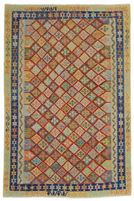 Kilim Afghan Old Style Tapis 204X302 D'orient Tissé À La Main Gris Foncé/Gris Clair (Laine, Afghanistan)
