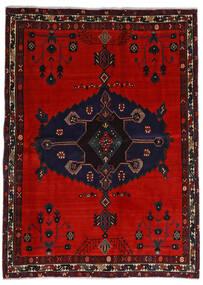 Afshar Tapis 164X225 D'orient Fait Main Noir/Rouille/Rouge/Rouge Foncé (Laine, Perse/Iran)
