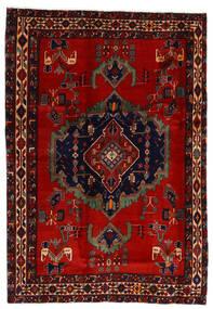 Afshar Tapis 169X243 D'orient Fait Main Rouge Foncé/Rouille/Rouge (Laine, Perse/Iran)