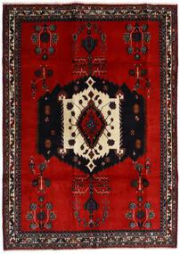 Afshar Tapis 188X261 D'orient Fait Main Noir/Rouille/Rouge/Rouge Foncé (Laine, Perse/Iran)