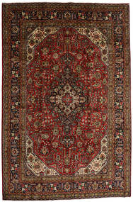 Tabriz Tapis 196X290 D'orient Fait Main Marron Foncé/Rouge Foncé (Laine, Perse/Iran)