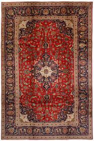 Kashan Tapis 196X298 D'orient Fait Main Marron Foncé/Rouge Foncé (Laine, Perse/Iran)