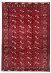 Turkaman Tapis 199X282 D'orient Fait Main Rouge Foncé/Rouge (Laine, Perse/Iran)