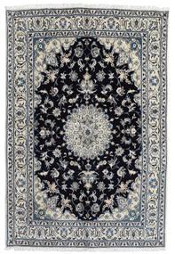 Naïn Tapis 166X248 D'orient Fait Main Gris Foncé/Noir (Laine, Perse/Iran)
