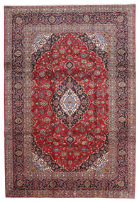 Kashan Tapis 240X343 D'orient Fait Main Rouge Foncé/Violet Clair (Laine, Perse/Iran)