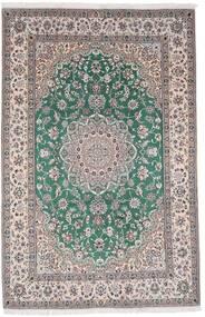 Naïn 9La Tapis 198X304 D'orient Fait Main Gris Clair/Gris Foncé (Laine/Soie, Perse/Iran)