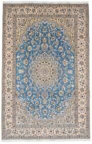 Naïn 9La Tapis 201X311 D'orient Fait Main Gris Clair/Blanc/Crème (Laine/Soie, Perse/Iran)