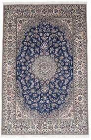 Naïn 9La Tapis 196X301 D'orient Fait Main Gris Foncé/Marron Foncé (Laine/Soie, Perse/Iran)