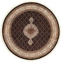 Tabriz Royal Tapis Ø 151 D'orient Fait Main Rond Rouge Foncé/Marron ( Inde)