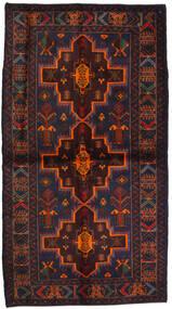 Baloutche Tapis 115X195 D'orient Fait Main Noir/Rouge Foncé (Laine, Afghanistan)