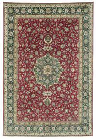 Tabriz 50 Raj Tapis 245X362 D'orient Fait Main Gris Foncé/Rouge Foncé (Laine, Perse/Iran)