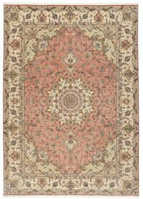 Tabriz 50 Raj Tapis 250X348 D'orient Fait Main Marron Clair/Beige Grand (Laine/Soie, Perse/Iran)