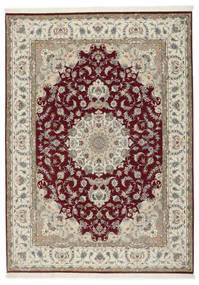 Tabriz 50 Raj Avec De La Soie Tapis 248X347 D'orient Fait Main Gris Clair/Rouge Foncé (Laine/Soie, Perse/Iran)