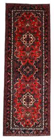 Hamadan Tapis 112X314 D'orient Fait Main Tapis Couloir Rouge Foncé/Rouille/Rouge (Laine, Perse/Iran)