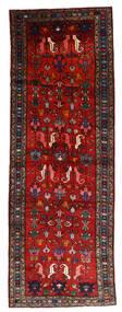 Hamadan Tapis 108X304 D'orient Fait Main Tapis Couloir Rouge Foncé/Rouille/Rouge/Noir (Laine, Perse/Iran)