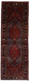 Hamadan Tapis 107X303 D'orient Fait Main Tapis Couloir Marron Foncé/Rouge Foncé (Laine, Perse/Iran)