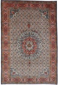 Moud Tapis 262X364 D'orient Fait Main Marron Foncé/Rouge Foncé Grand (Laine/Soie, Perse/Iran)