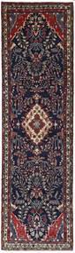 Mehraban Tapis 77X280 D'orient Fait Main Tapis Couloir Violet Foncé/Marron Foncé (Laine, Perse/Iran)