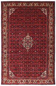 Hosseinabad Tapis 215X335 D'orient Fait Main Rouge Foncé/Noir (Laine, Perse/Iran)