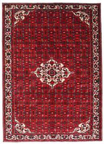 Hosseinabad Tapis 215X301 D'orient Fait Main Rouge Foncé/Rouge (Laine, Perse/Iran)