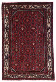 Hosseinabad Tapis 98X150 D'orient Fait Main Rouge Foncé (Laine, Perse/Iran)