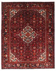 Hosseinabad Tapis 164X208 D'orient Fait Main Rouge Foncé/Marron Foncé (Laine, Perse/Iran)