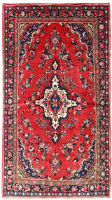 Mehraban Tapis 130X236 D'orient Fait Main Rouge/Violet Foncé (Laine, Perse/Iran)