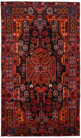 Nahavand Tapis 150X260 D'orient Fait Main Marron Foncé/Rouge Foncé/Rouille/Rouge (Laine, Perse/Iran)