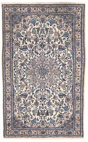 Naïn Tapis 151X255 D'orient Fait Main Gris Foncé/Beige (Laine, Perse/Iran)