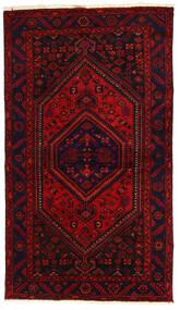 Hamadan Tapis 138X240 D'orient Fait Main Rouge Foncé/Rouille/Rouge (Laine, Perse/Iran)