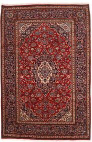 Kashan Tapis 198X302 D'orient Fait Main Rouge Foncé (Laine, Perse/Iran)
