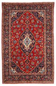 Kashan Tapis 190X295 D'orient Fait Main Rouge Foncé/Violet Foncé (Laine, Perse/Iran)