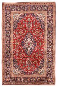 Kashan Tapis 195X305 D'orient Fait Main Rouge Foncé/Rouille/Rouge (Laine, Perse/Iran)