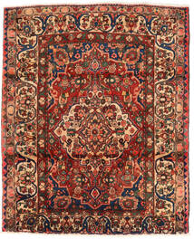 Bakhtiar Tapis 174X214 D'orient Fait Main Marron Foncé/Rouge Foncé (Laine, Perse/Iran)