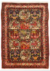 Bakhtiar Collectible Tapis 108X150 D'orient Fait Main Marron Foncé/Rouille/Rouge (Laine, Perse/Iran)