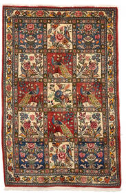 Bakhtiar Collectible Tapis 106X162 D'orient Fait Main Marron Foncé/Rouge Foncé (Laine, Perse/Iran)