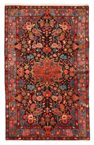 Nahavand Old Tapis 150X240 D'orient Fait Main Rouge Foncé/Noir (Laine, Perse/Iran)