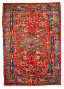 Nahavand Old Tapis 159X228 D'orient Fait Main Rouge Foncé/Rouge (Laine, Perse/Iran)