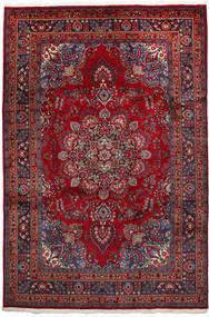 Mashad Tapis 192X297 D'orient Fait Main Rouge Foncé/Noir (Laine, Perse/Iran)