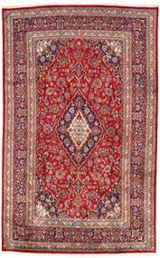 Kashan Tapis 193X303 D'orient Fait Main Rouge Foncé/Rouille/Rouge (Laine, Perse/Iran)