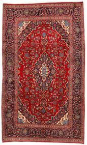 Kashan Tapis 192X325 D'orient Fait Main Rouge Foncé/Rouille/Rouge (Laine, Perse/Iran)