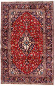 Kashan Tapis 200X315 D'orient Fait Main Rouge Foncé/Violet Foncé/Rouille/Rouge (Laine, Perse/Iran)