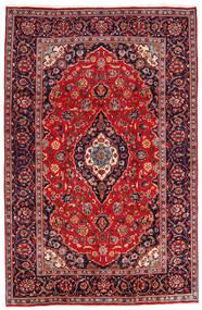 Kashan Tapis 194X301 D'orient Fait Main Rouge Foncé/Violet Foncé (Laine, Perse/Iran)
