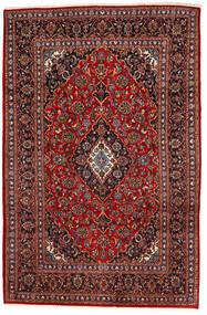 Kashan Tapis 195X294 D'orient Fait Main Rouge Foncé/Noir (Laine, Perse/Iran)