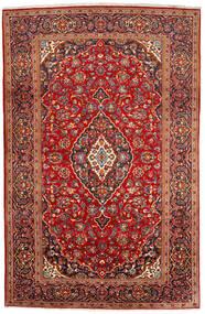 Kashan Tapis 200X309 D'orient Fait Main Rouge Foncé/Rouille/Rouge (Laine, Perse/Iran)